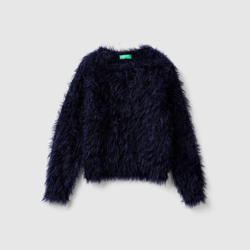 Long hair sweater