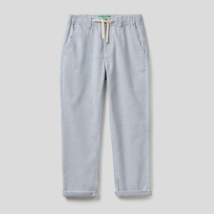 Pantalón de rayas de 100% algodón