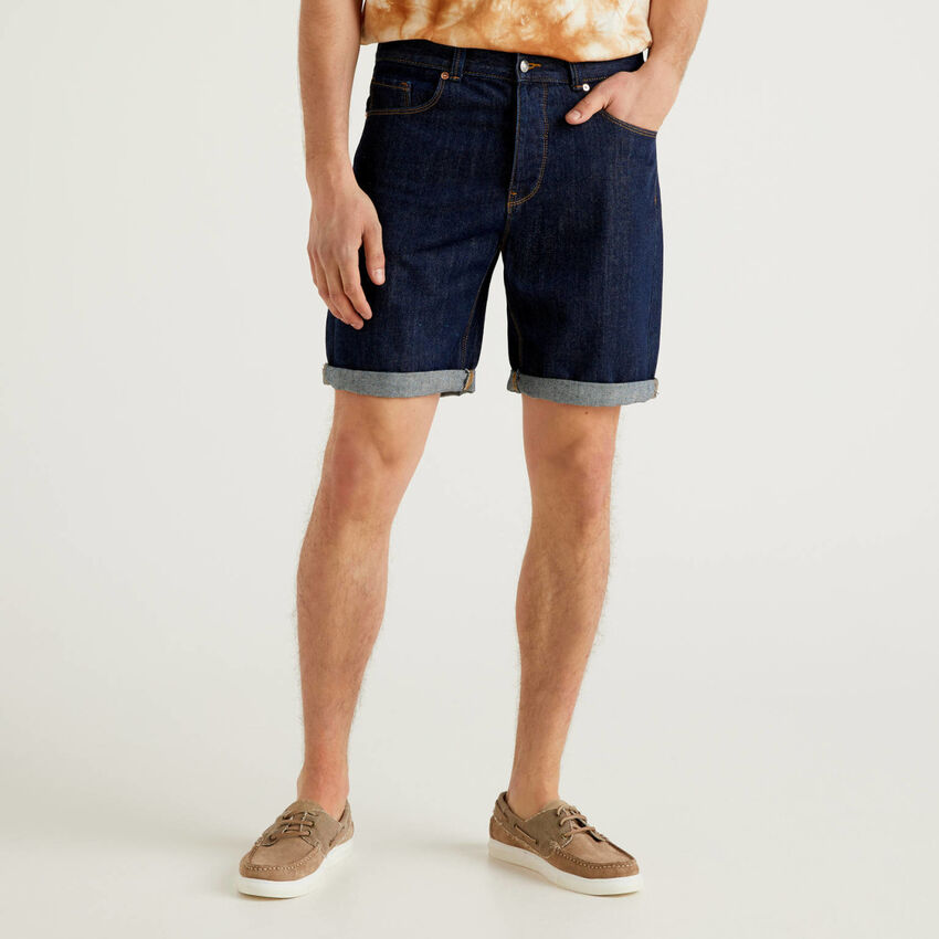 Bermudas in 100% cotton denim