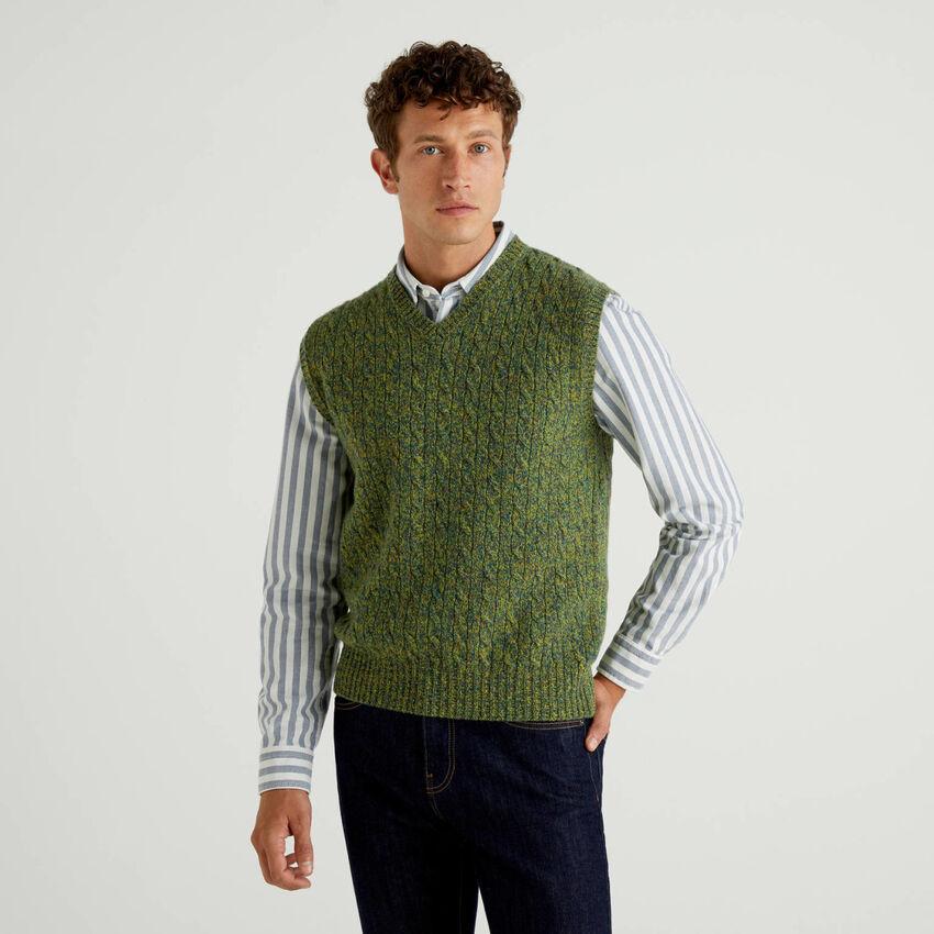 Vest in pure Shetland wool
