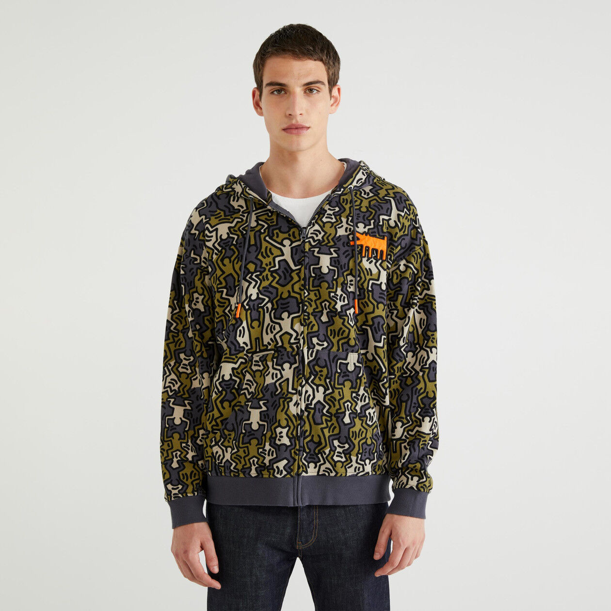 "Sweatshirt with ""Keith Haring"" print"