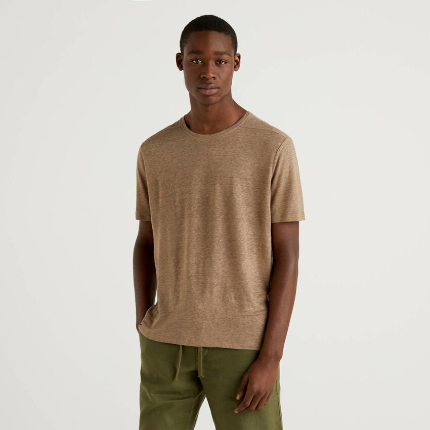 T-shirt in pure linen