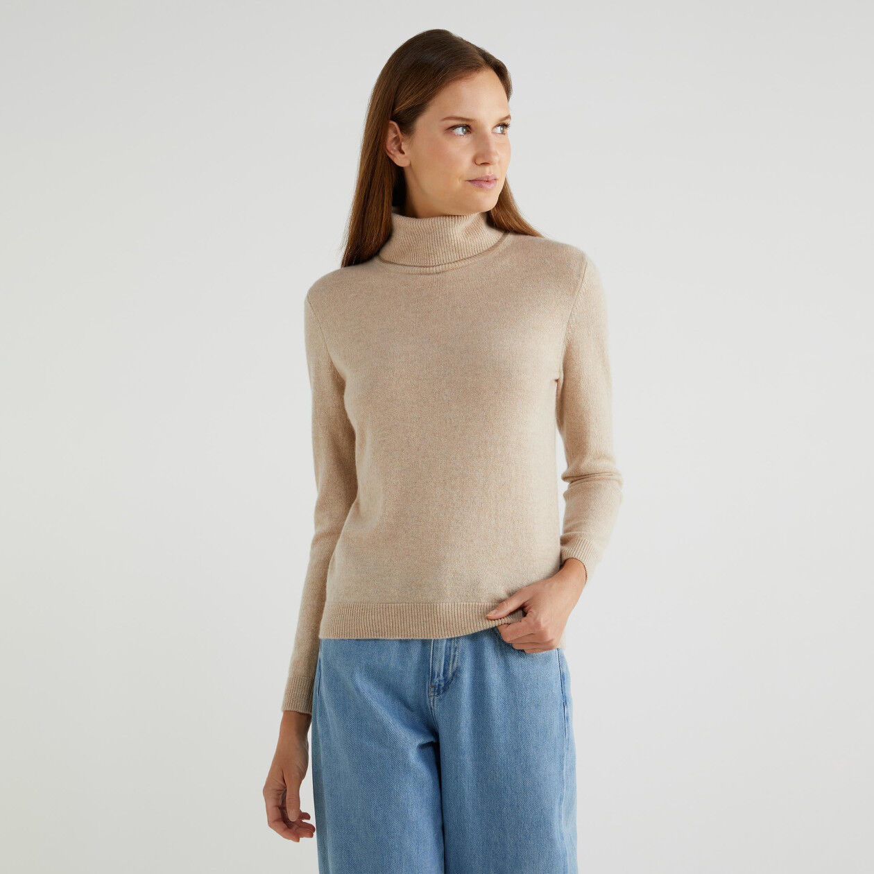 Pure cashmere turtleneck sweater