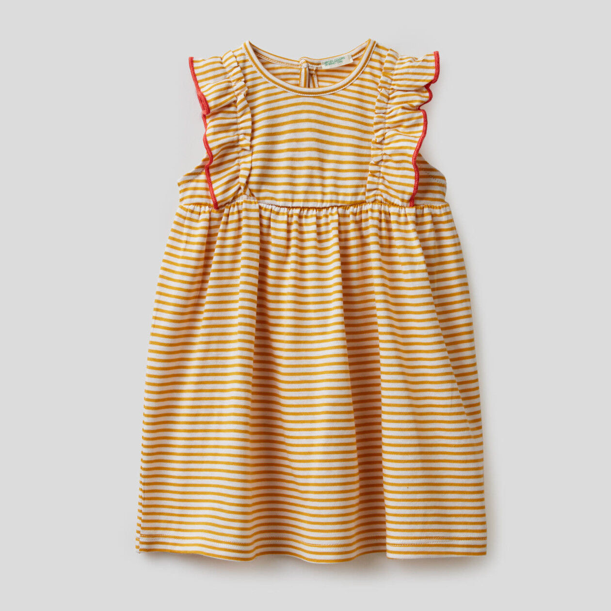 Striped dress in 100% organic cotton