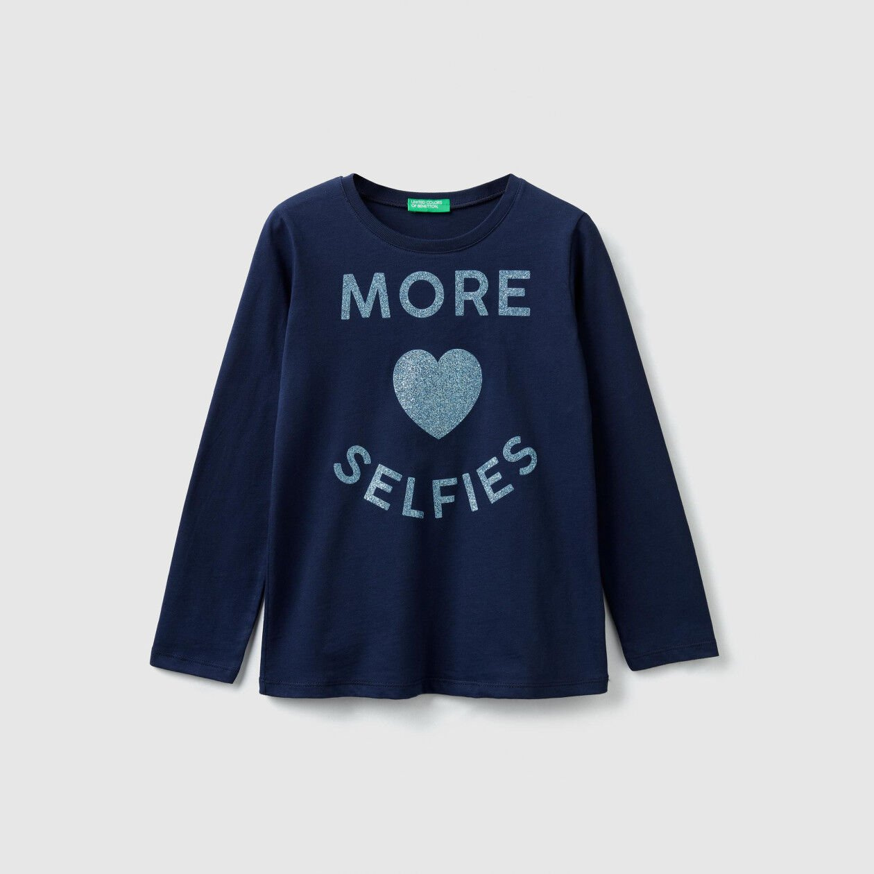 Long sleeve t-shirt with glitter
