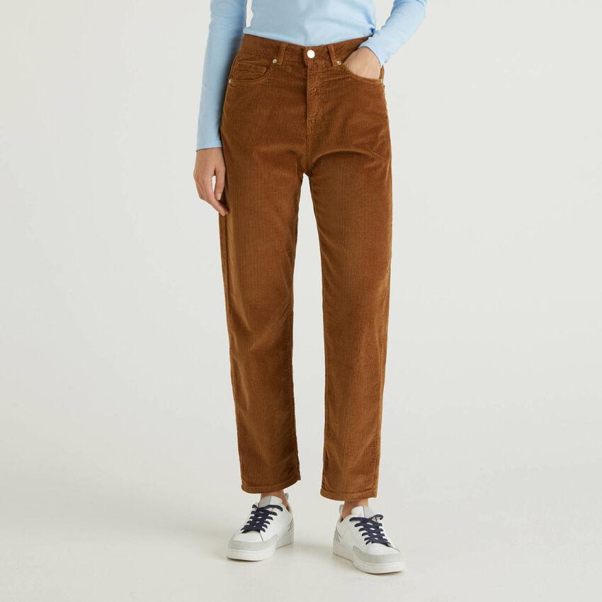 Boyfriend velvet trousers