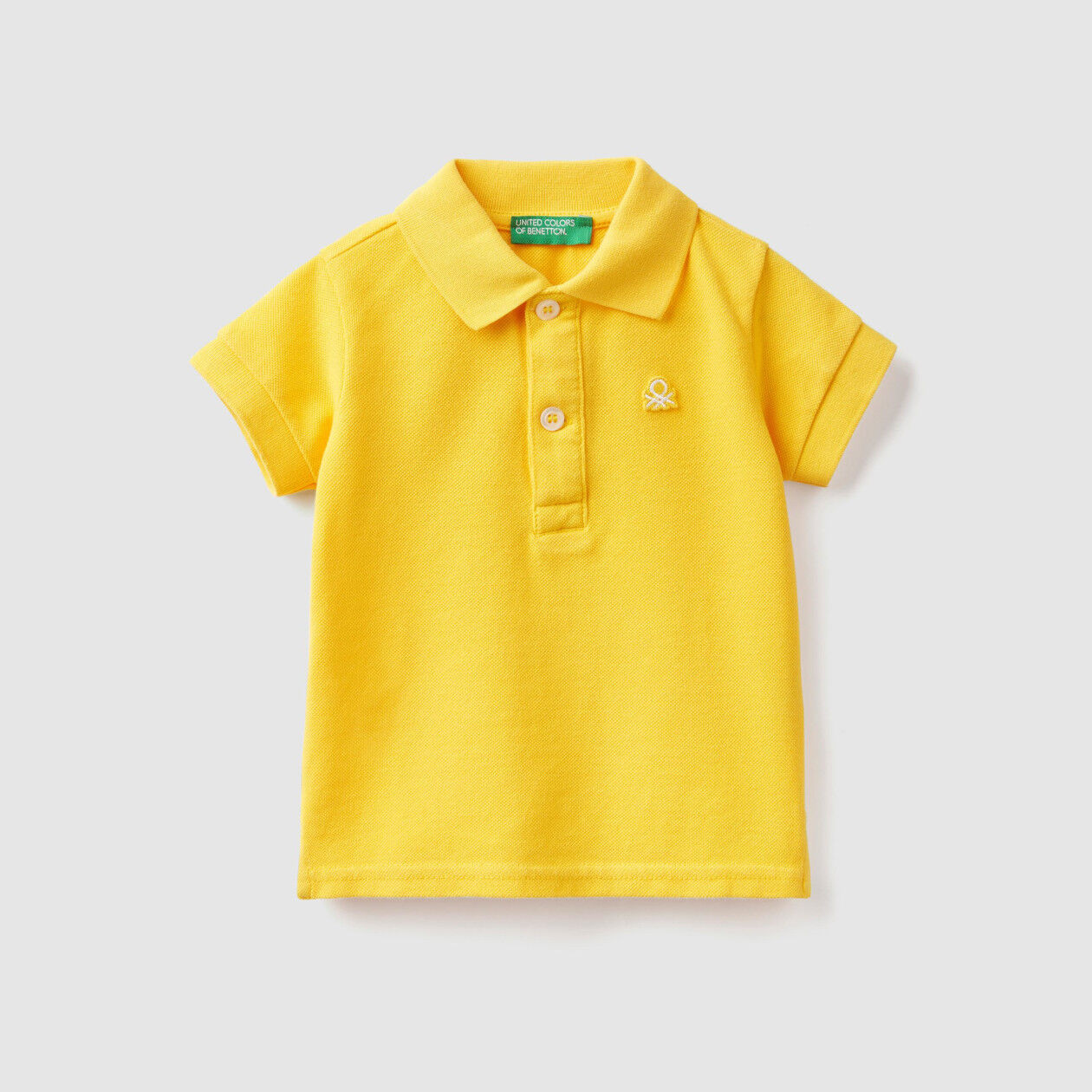 Polo in stretch organic cotton