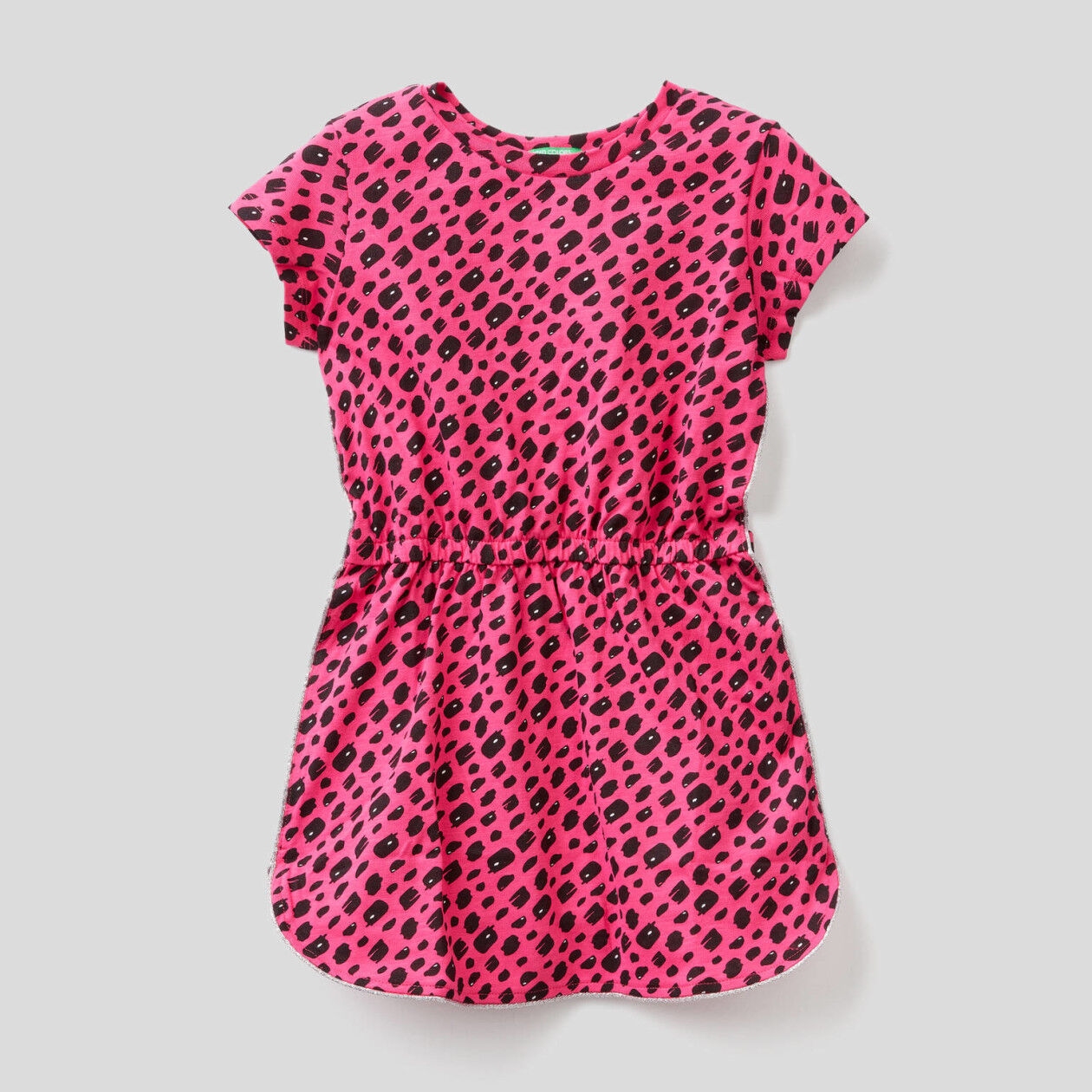 Printed dress in pure cotton