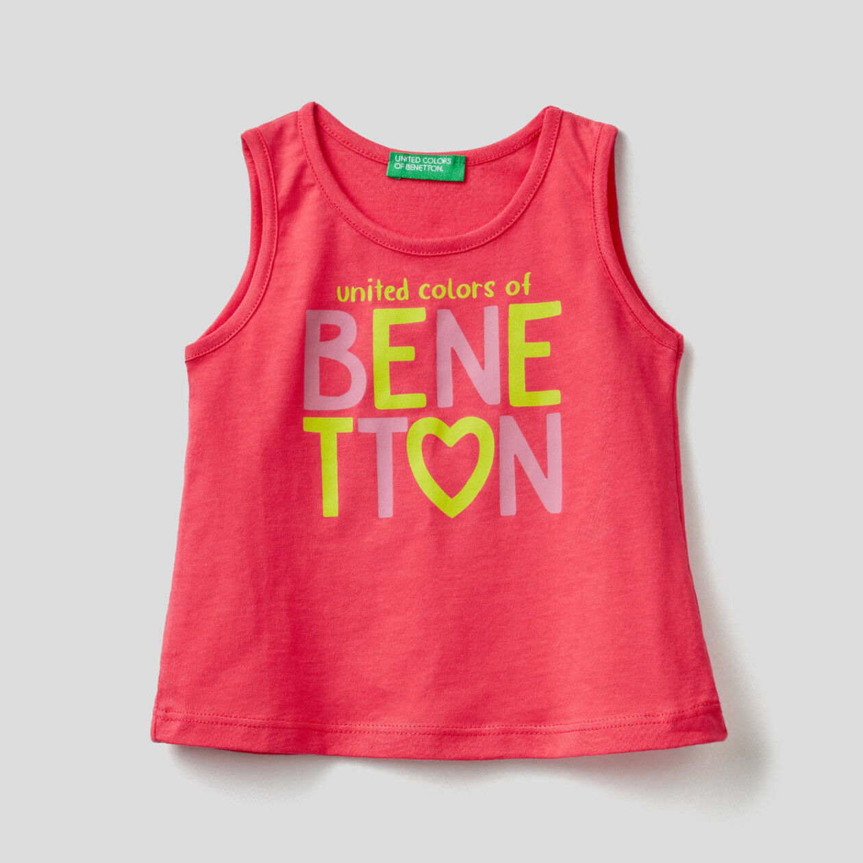 Organic cotton tank top with print