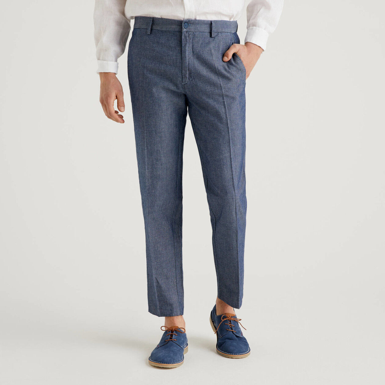 Pants in linen blend
