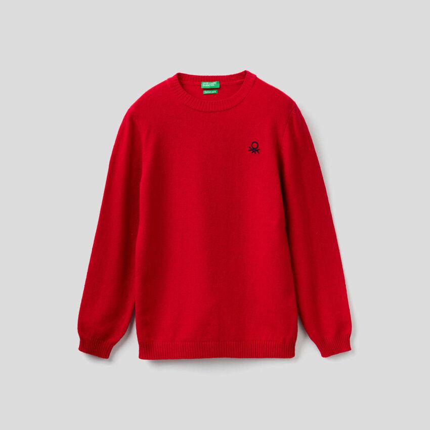 Jersey confeccionado en mezcla de lana y cachemir
