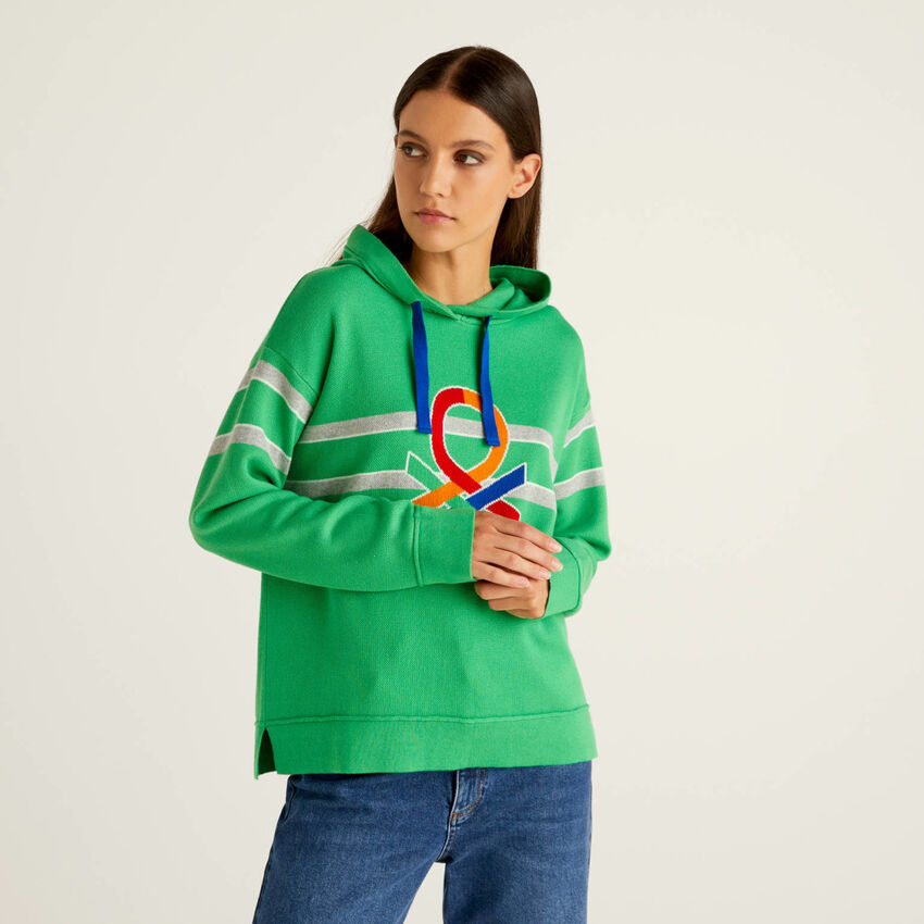 Tricot cotton sweater in cotton tricot