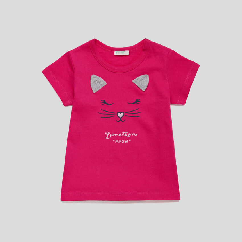 T-shirt with print and ears