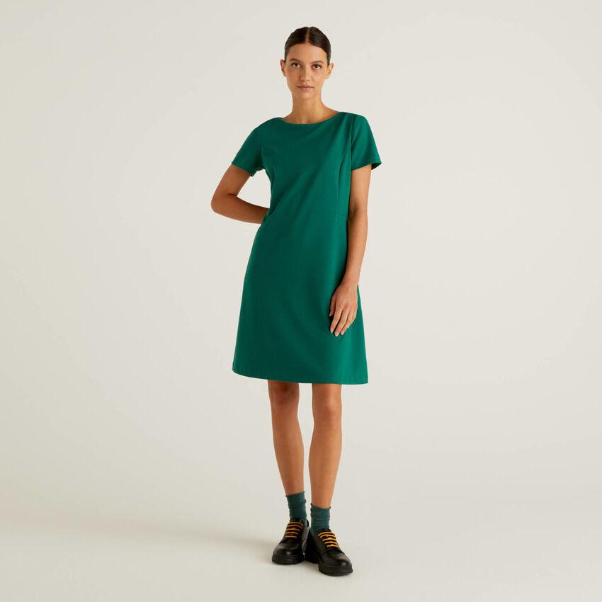 Dress in stretch cotton blend