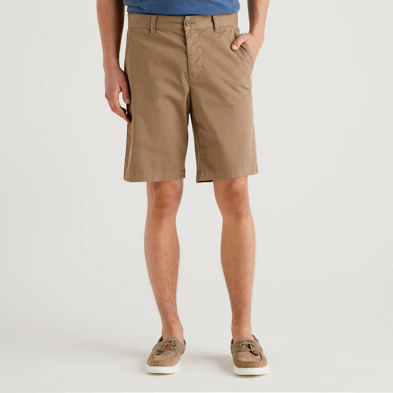 Stretch chino bermudas