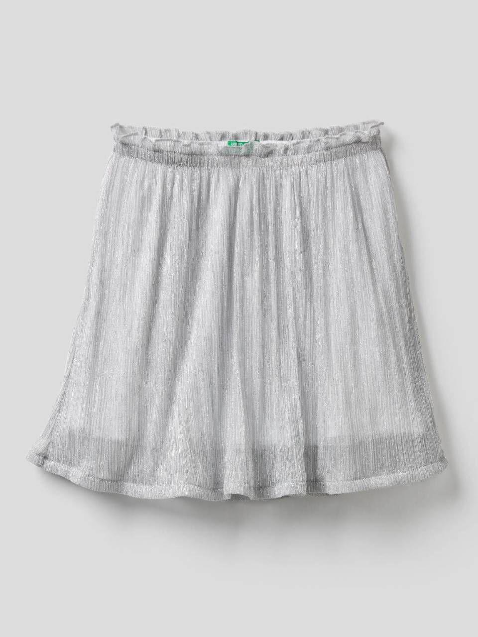 Flared skirt with lurex threads