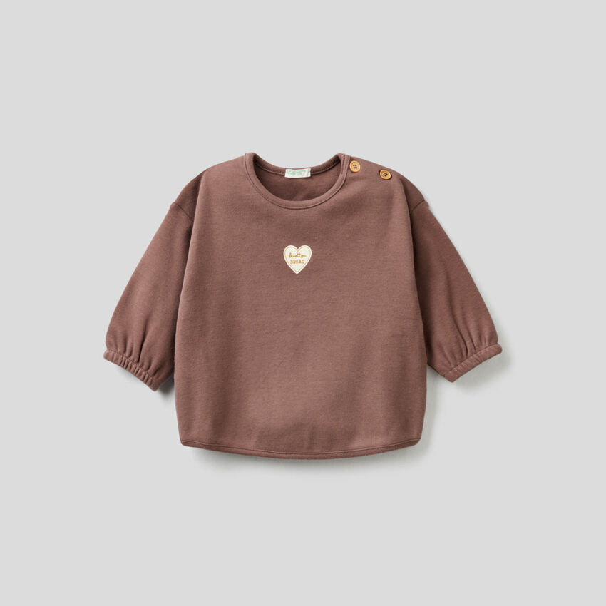 Blouse in pure organic cotton