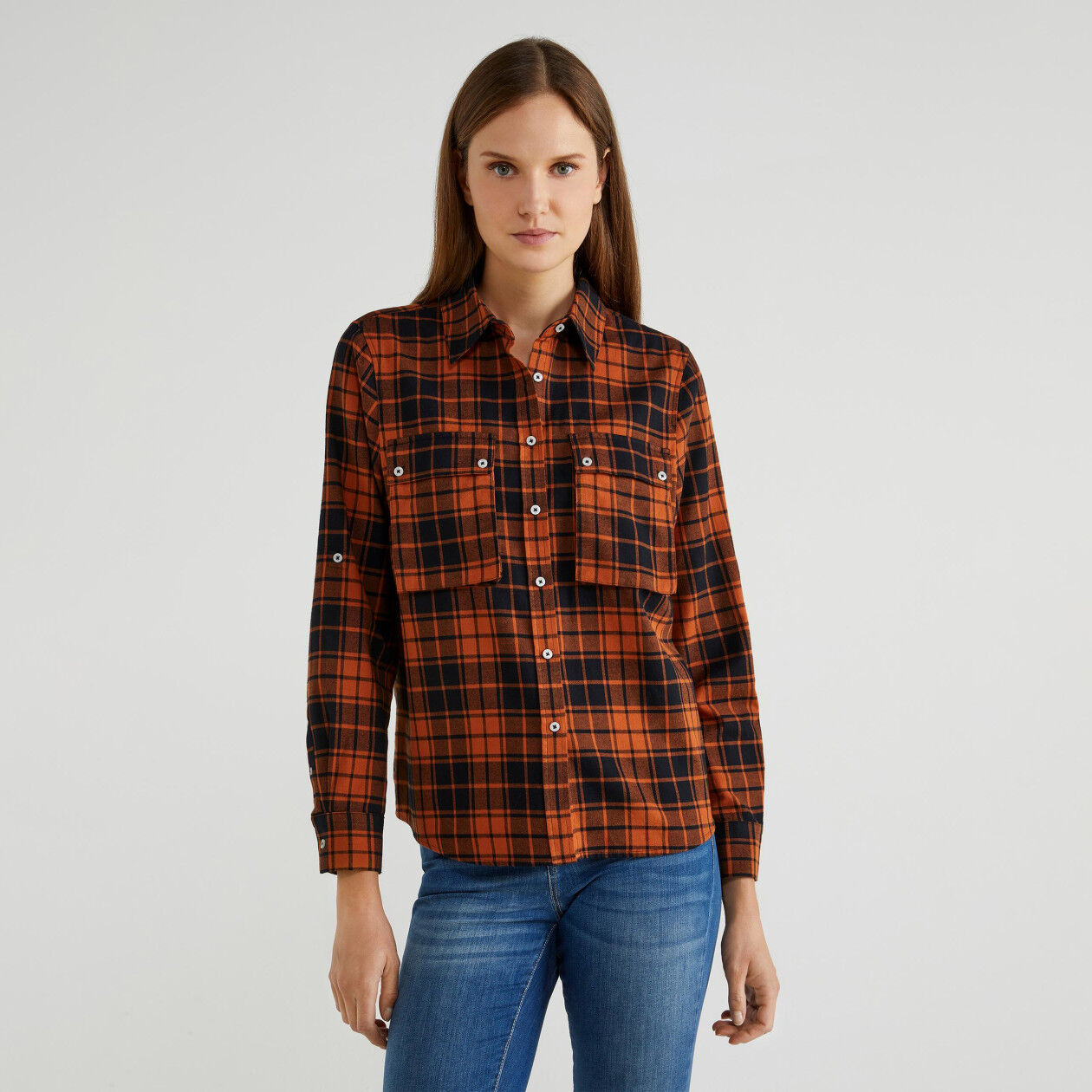 Check shirt with pockets