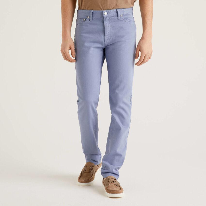 100% cotton five pocket pants