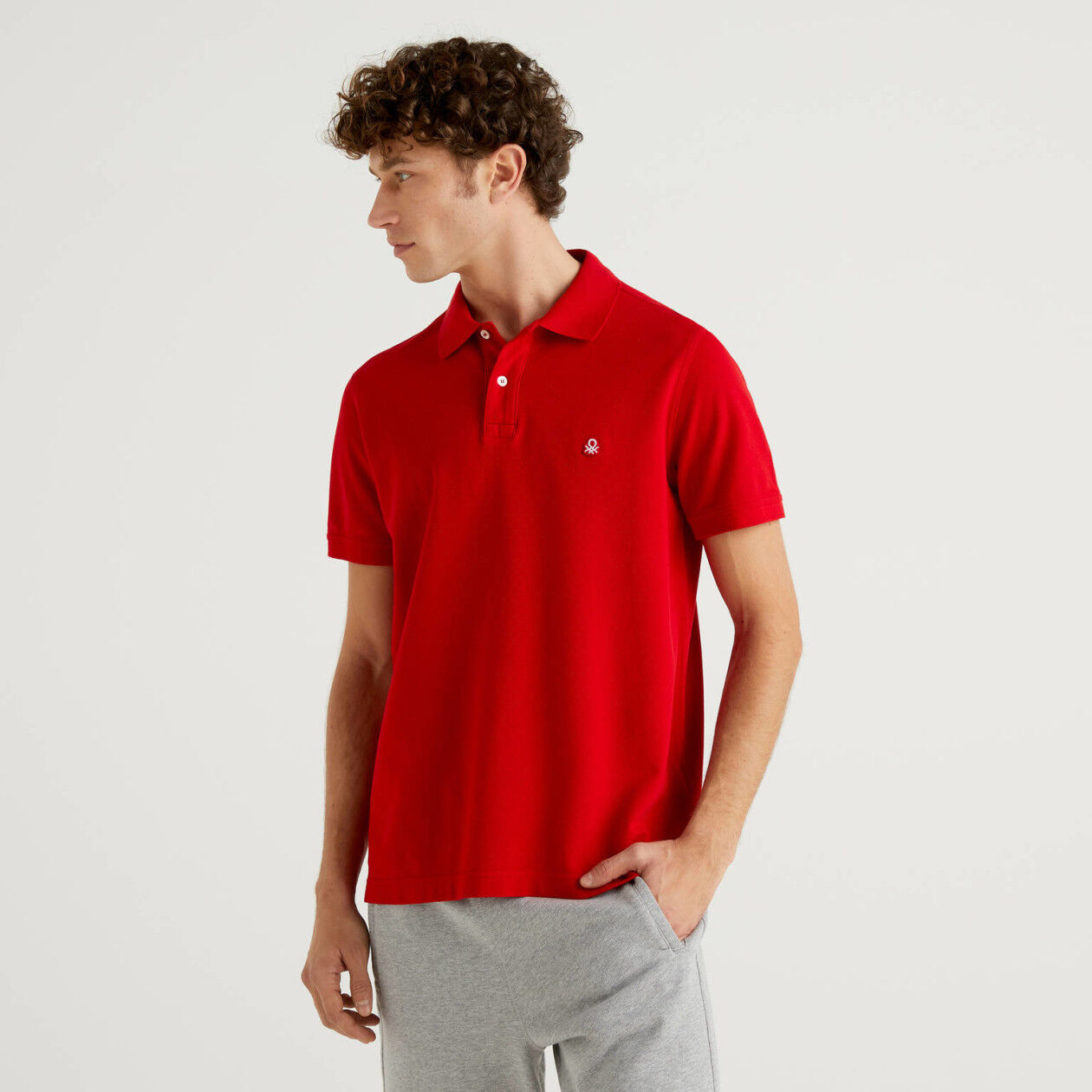 Polo regular fit rojo