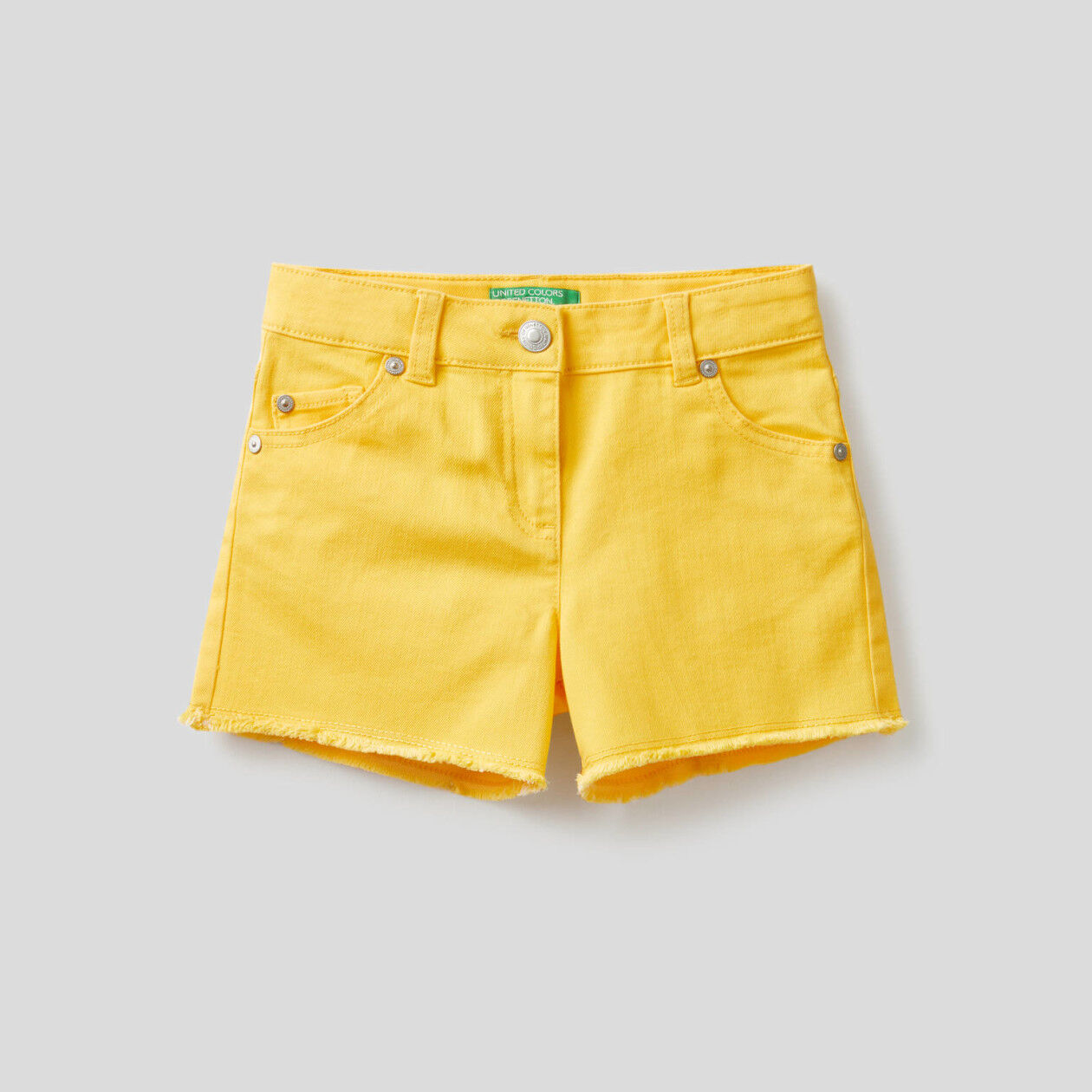 Pantalón corto de algodón elástico mixto