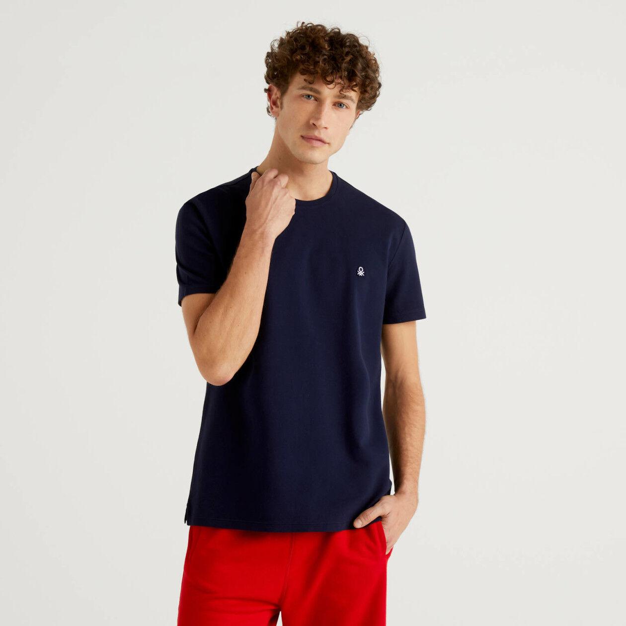 T-shirt in 100% cotton pique