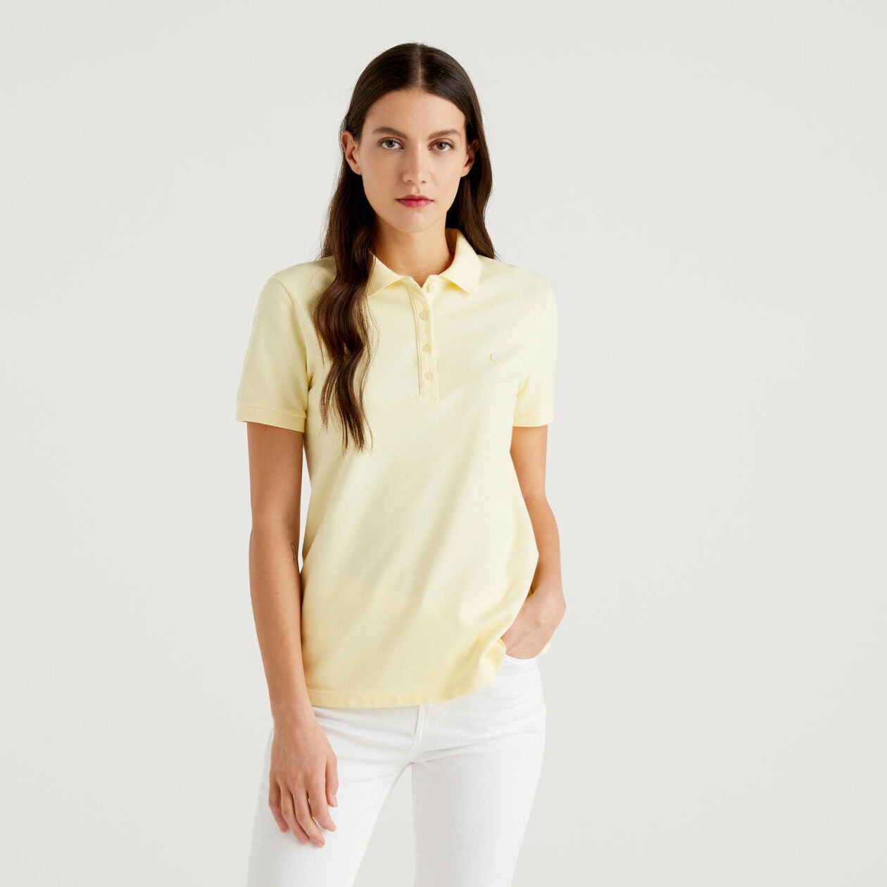Stretch polo with logo