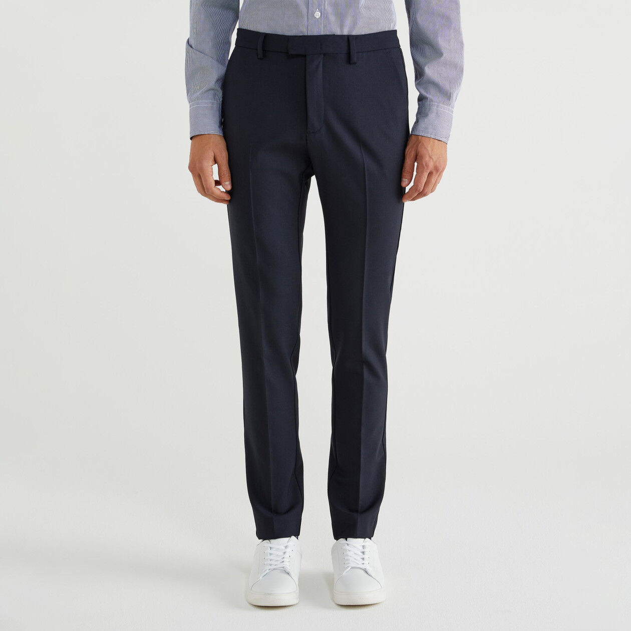 Slim fit trousers in fresh wool