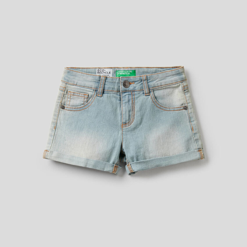 Shorts in stretch cotton
