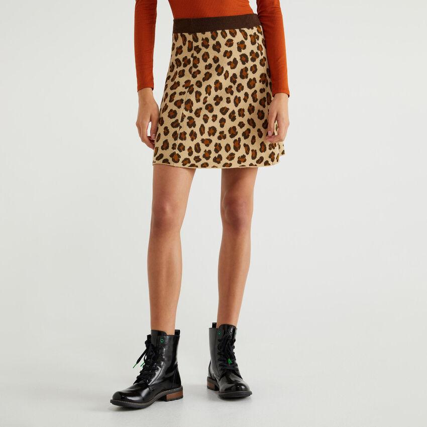 Multicolor knit skirt