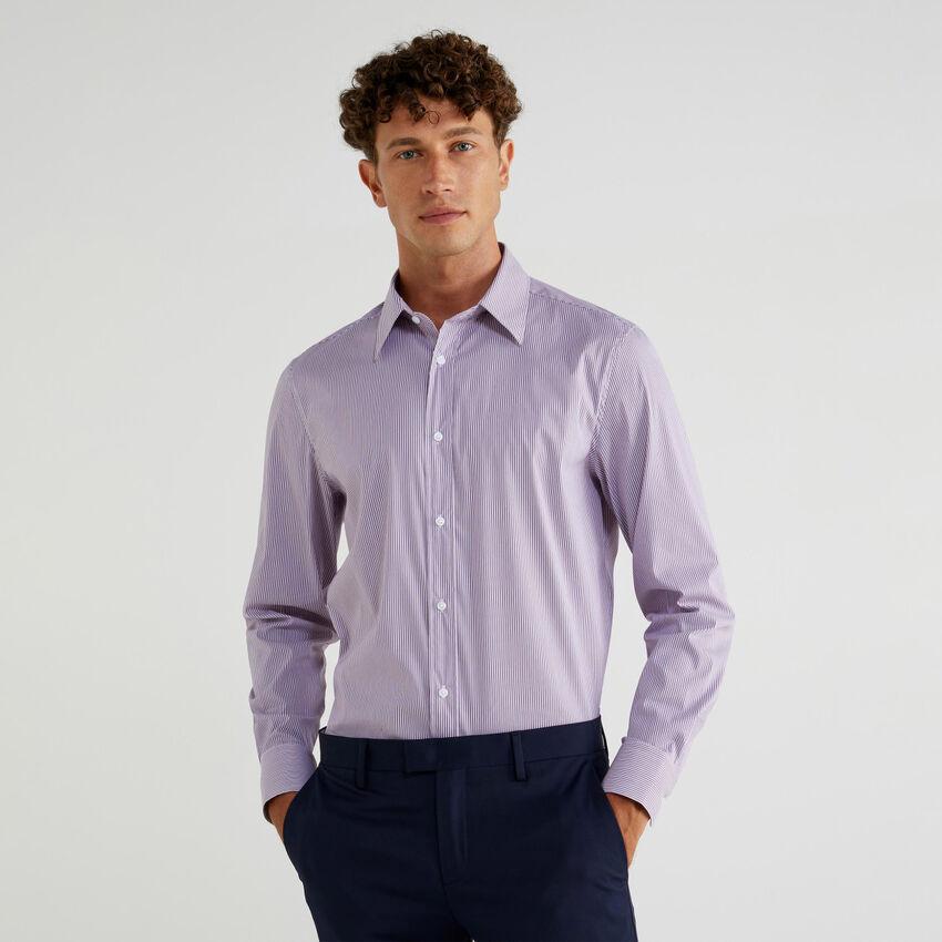 Camisa de algodón elástico