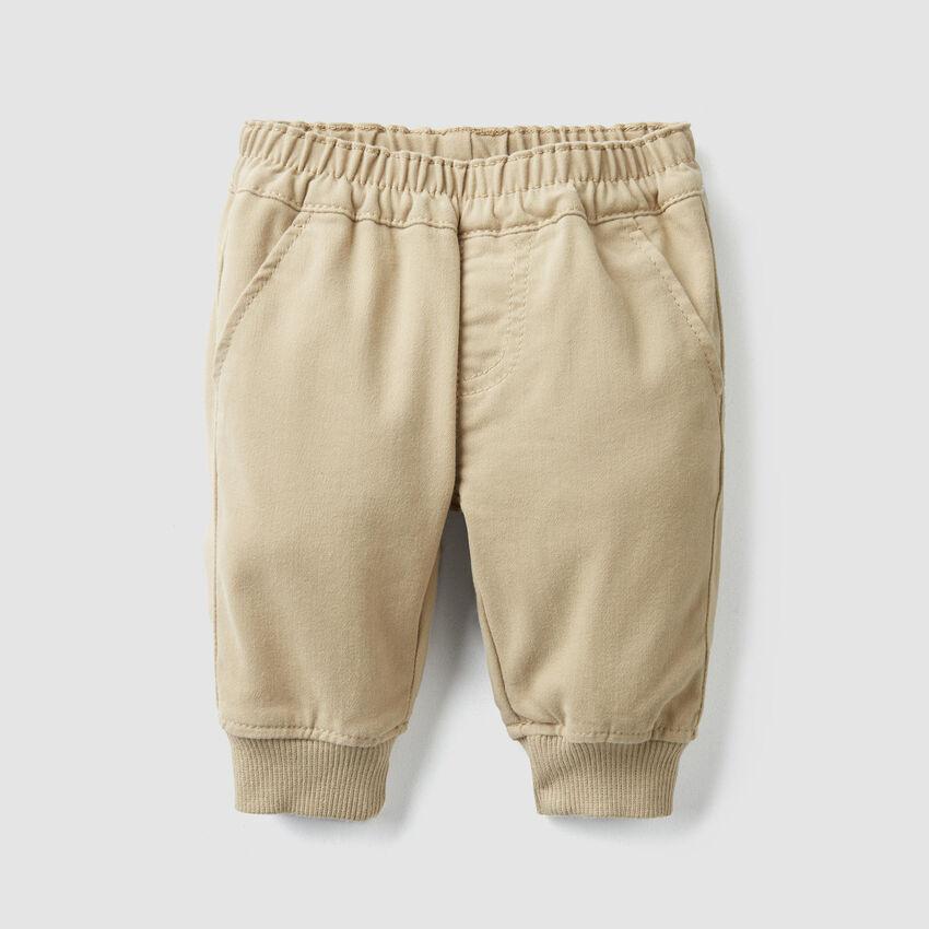 Stretch satin pants