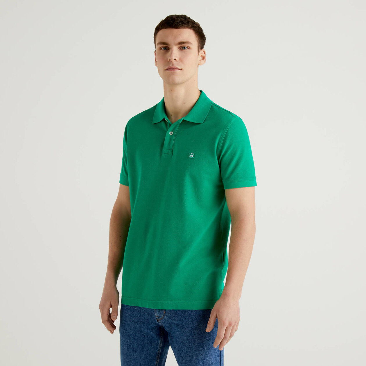 Polo regular fit verde
