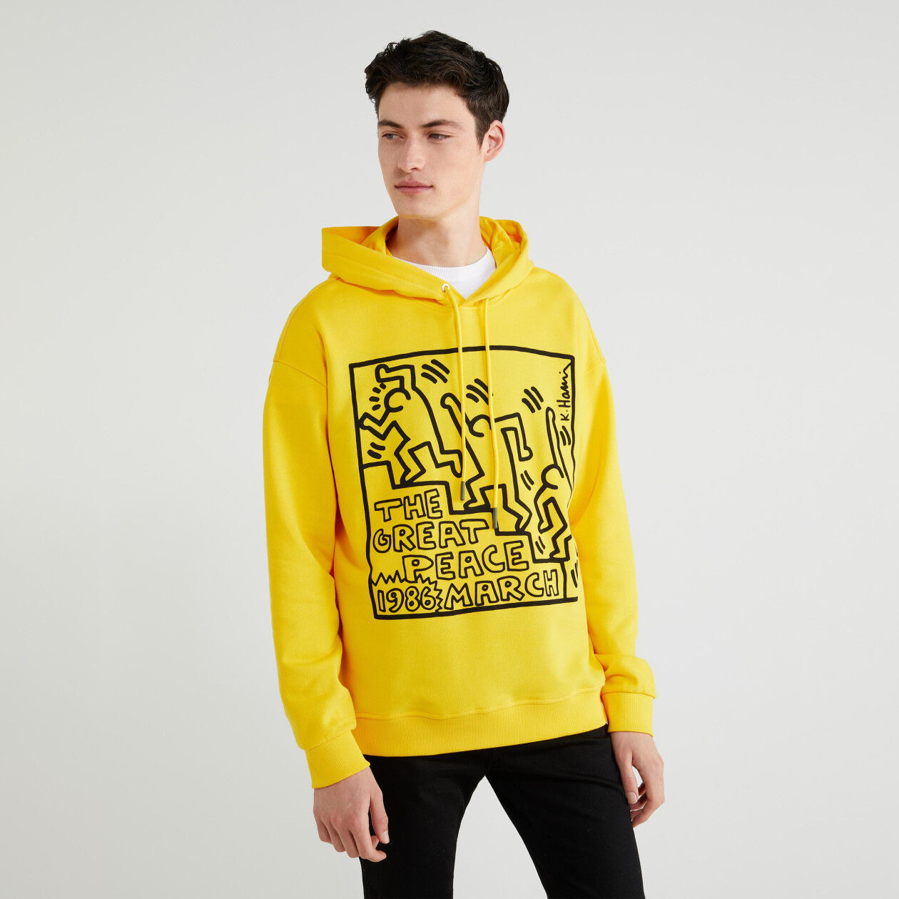"""Keith Haring"" sweatshirt with hood"