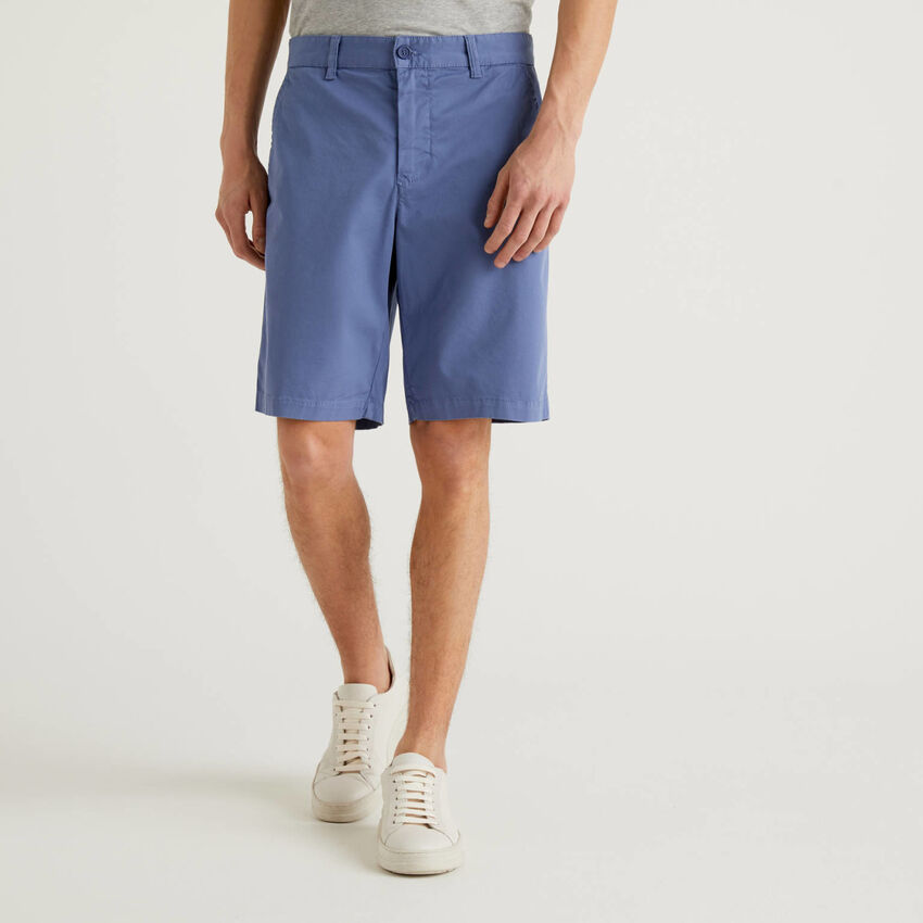 Chino bermudas in stretch cotton