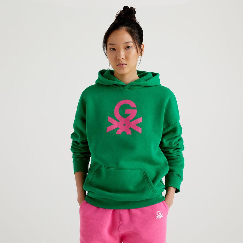 Green unisex hoodie by Ghali