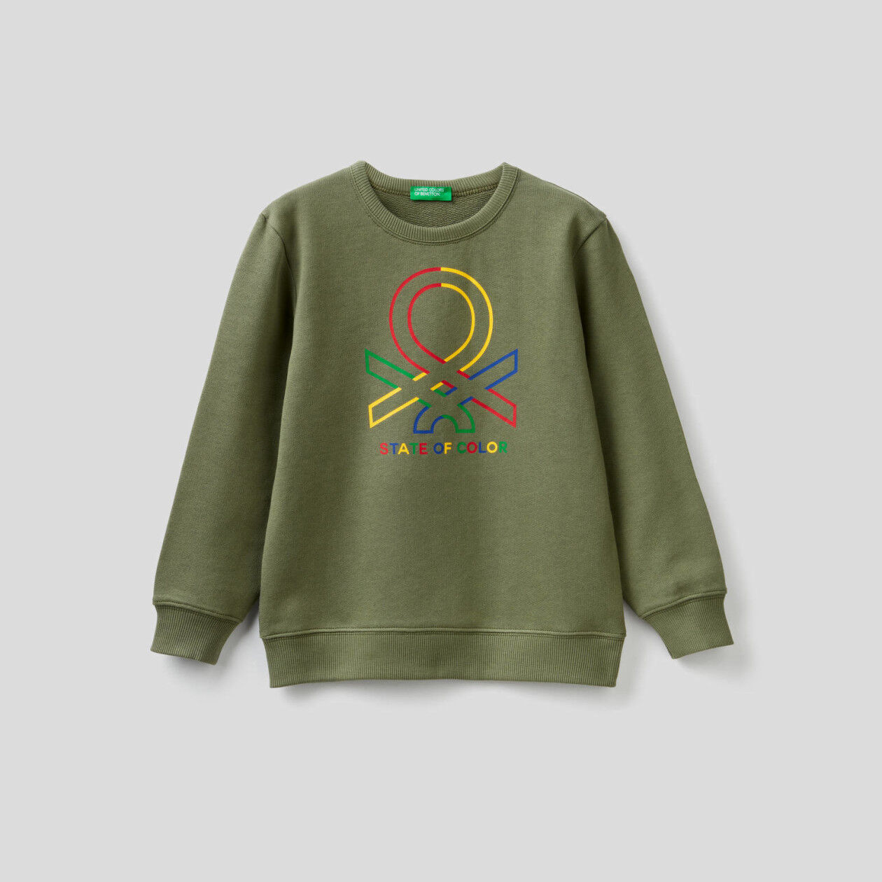 Pure cotton sweatshirt with logo