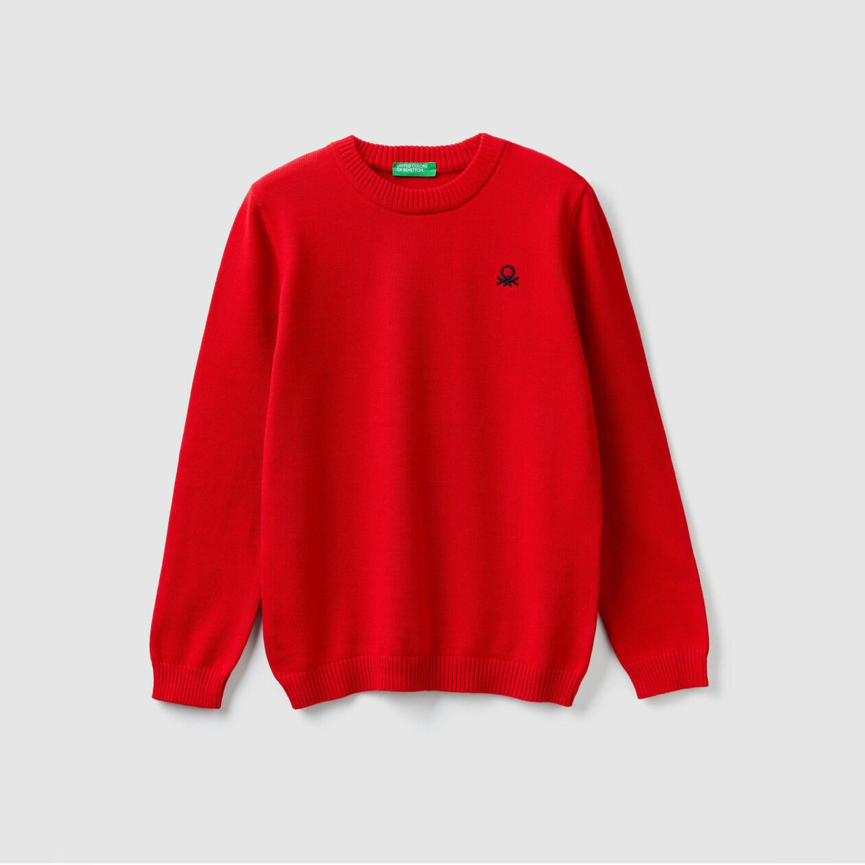 Cotton sweater with logo