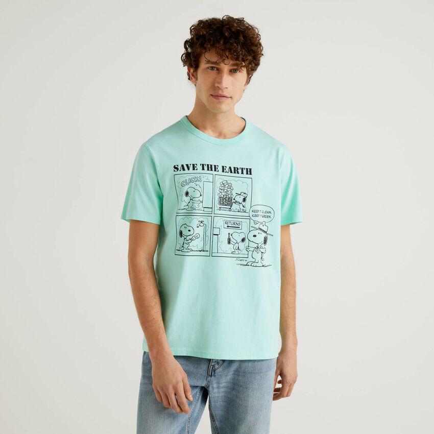 Camiseta de los Peanuts verde agua