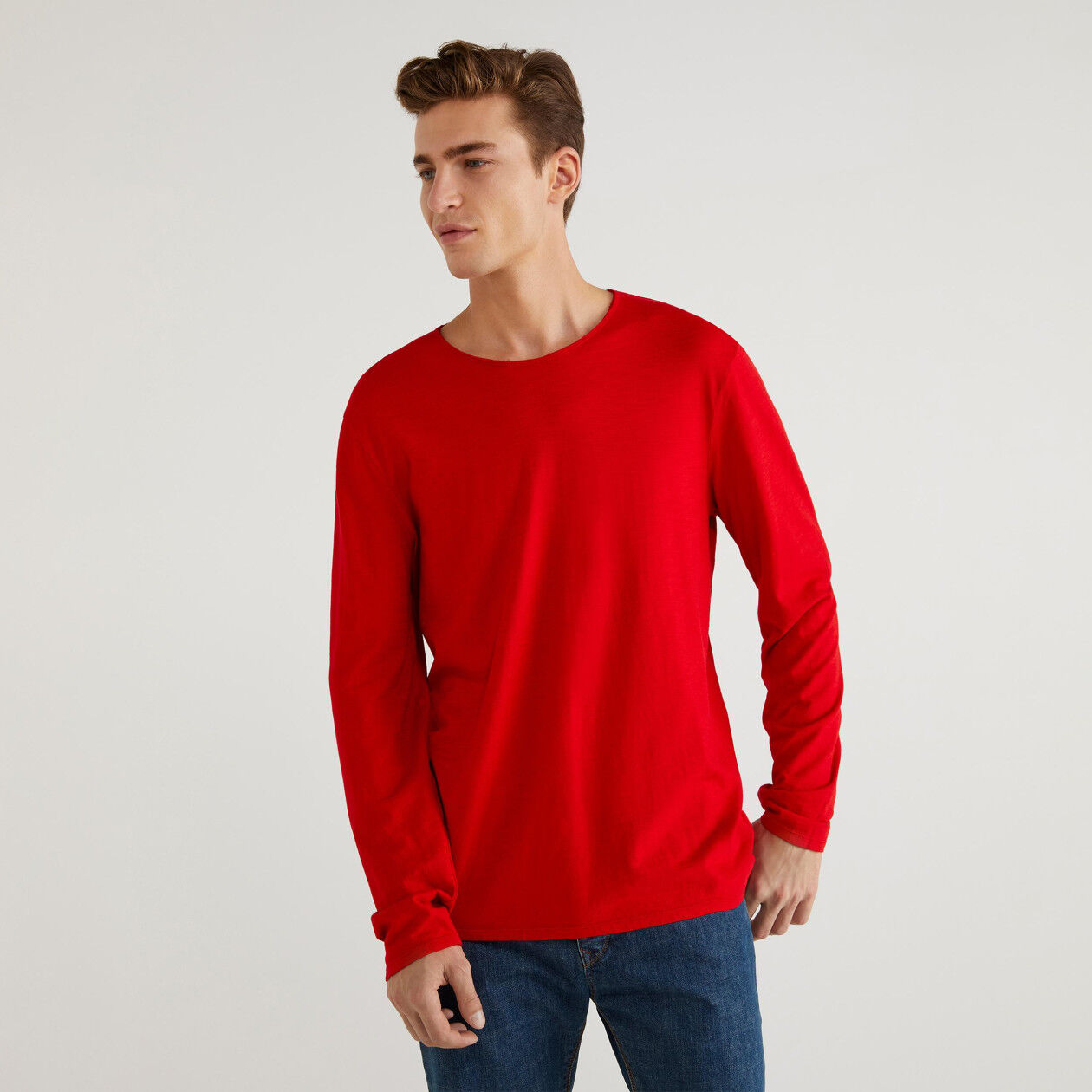 Crew neck t-shirt in jersey