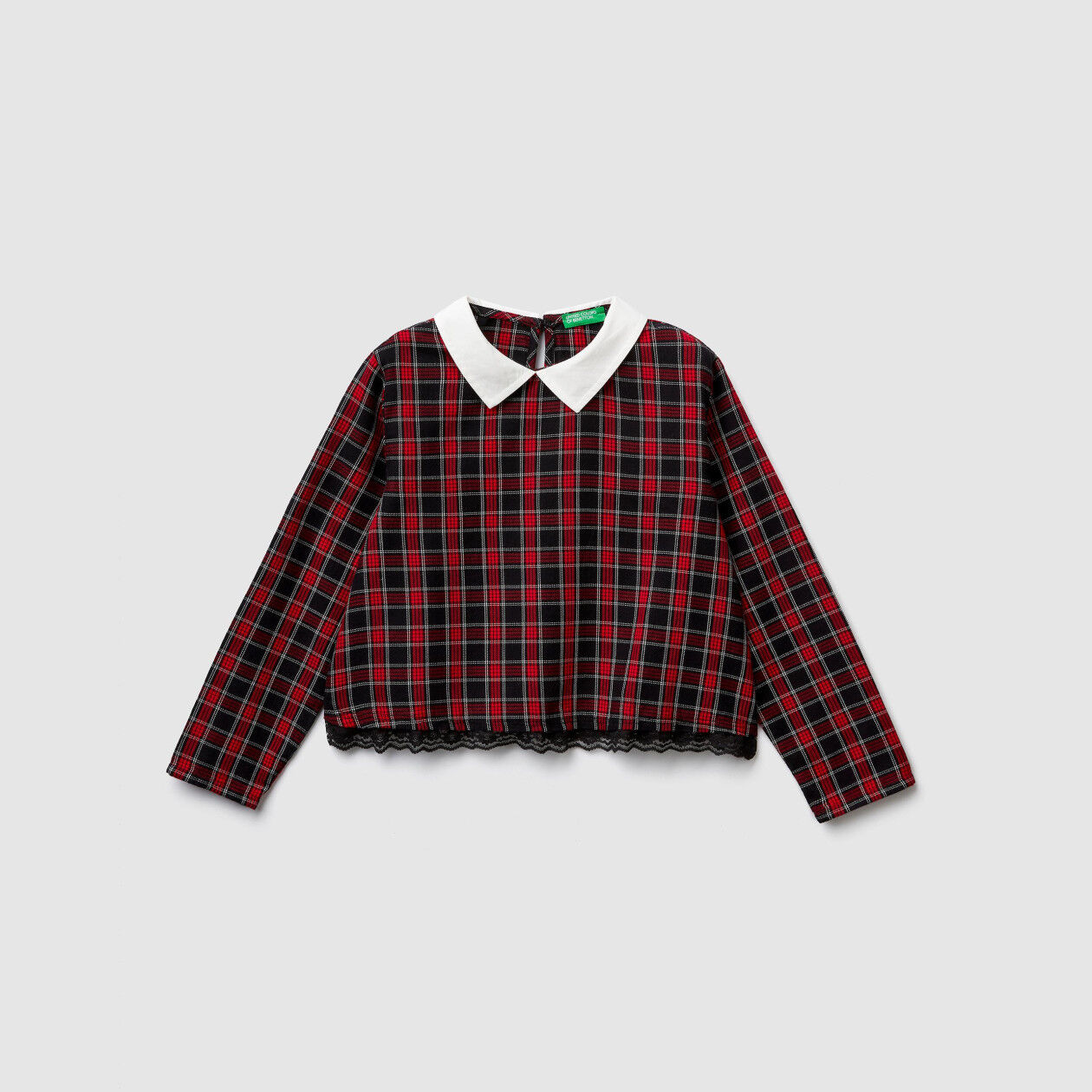 Check flannel blouse