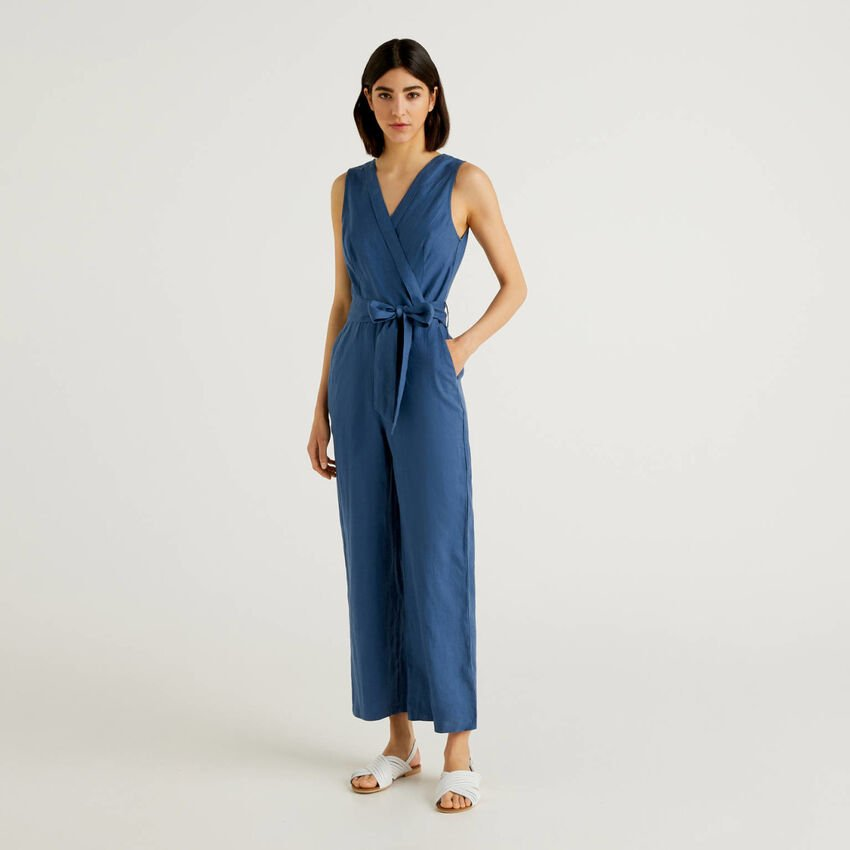 Jumpsuit in pure linen