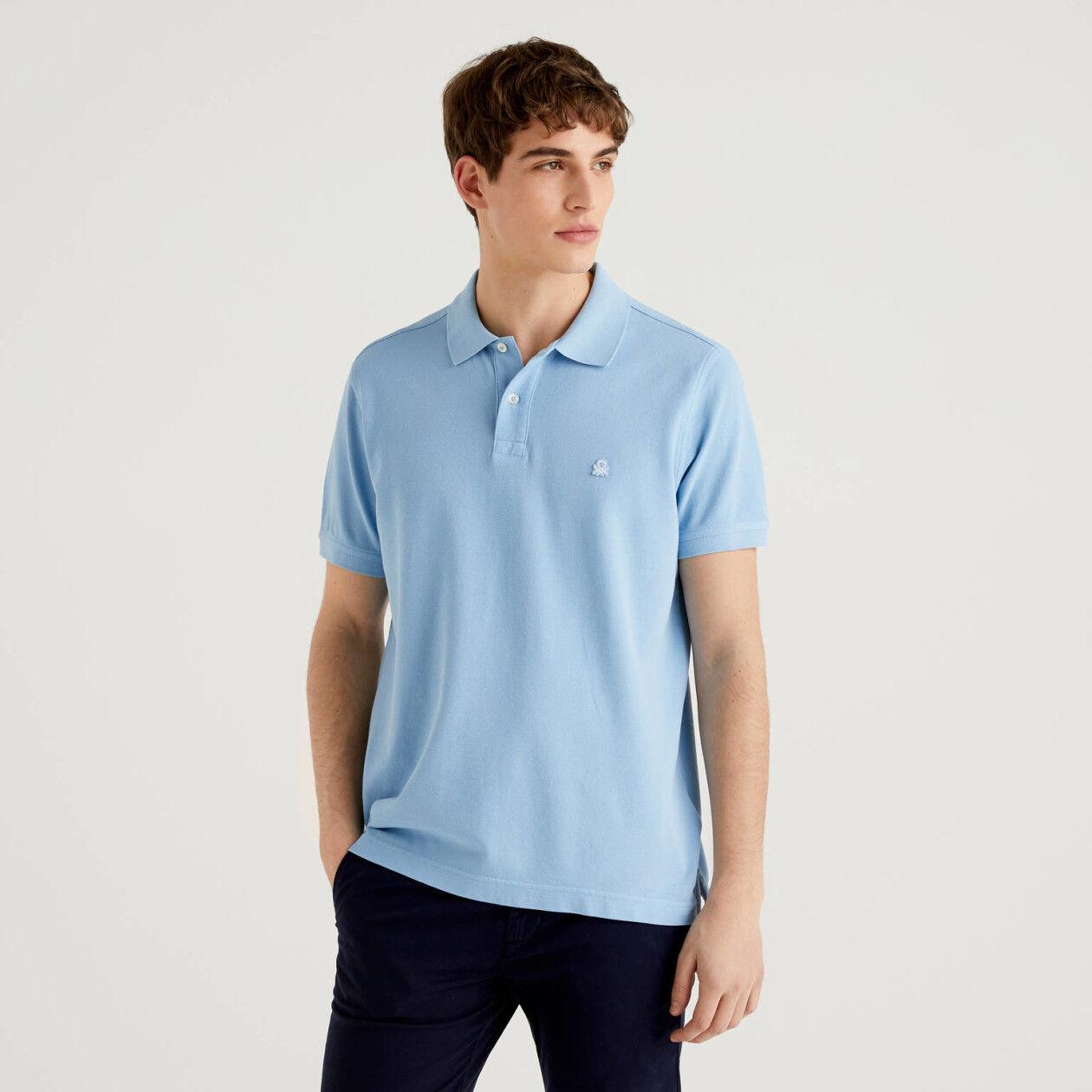 Light blue regular fit polo