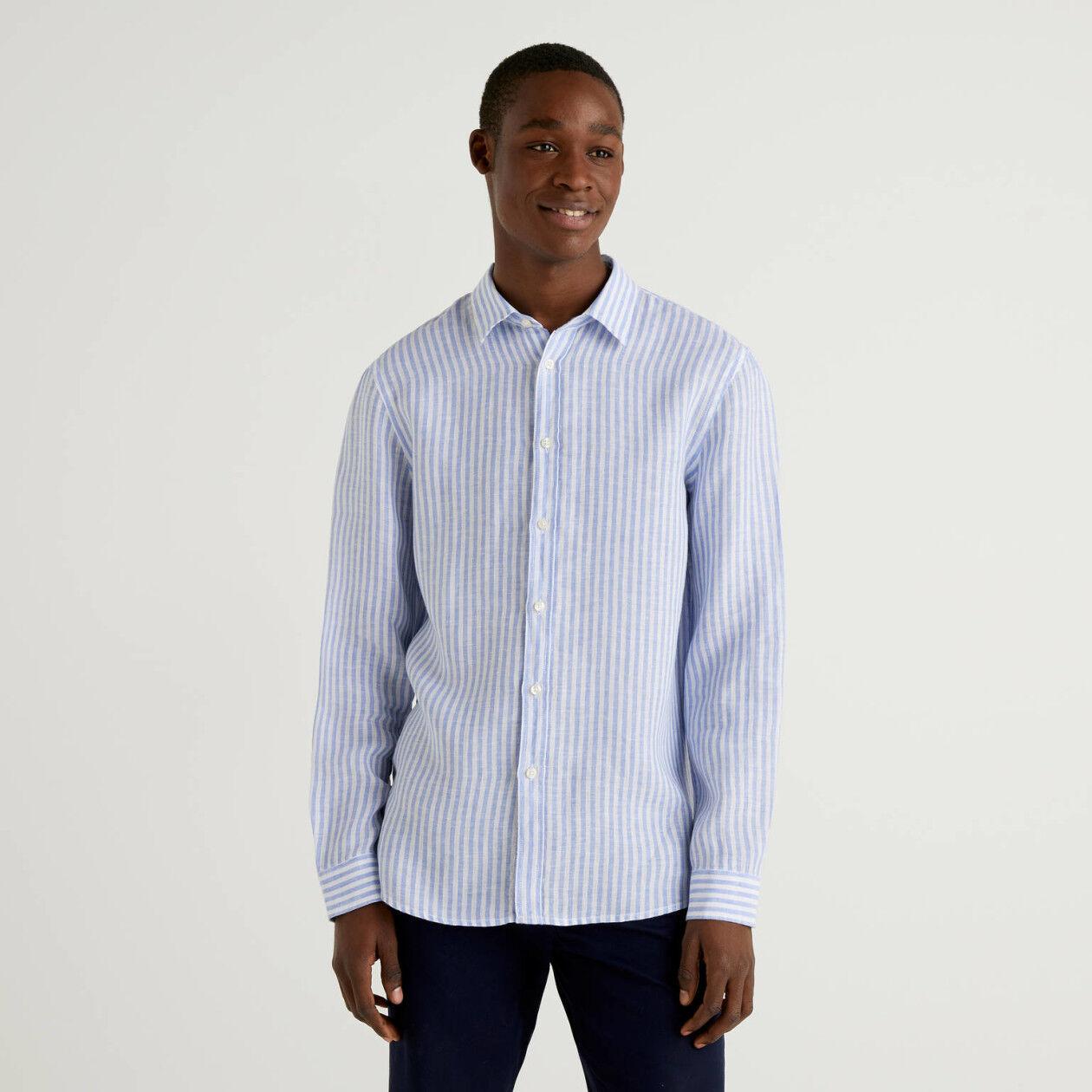 Camisa de puro lino