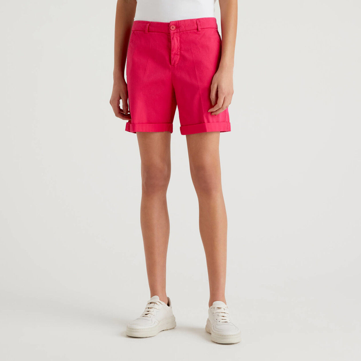 Stretch cotton bermudas