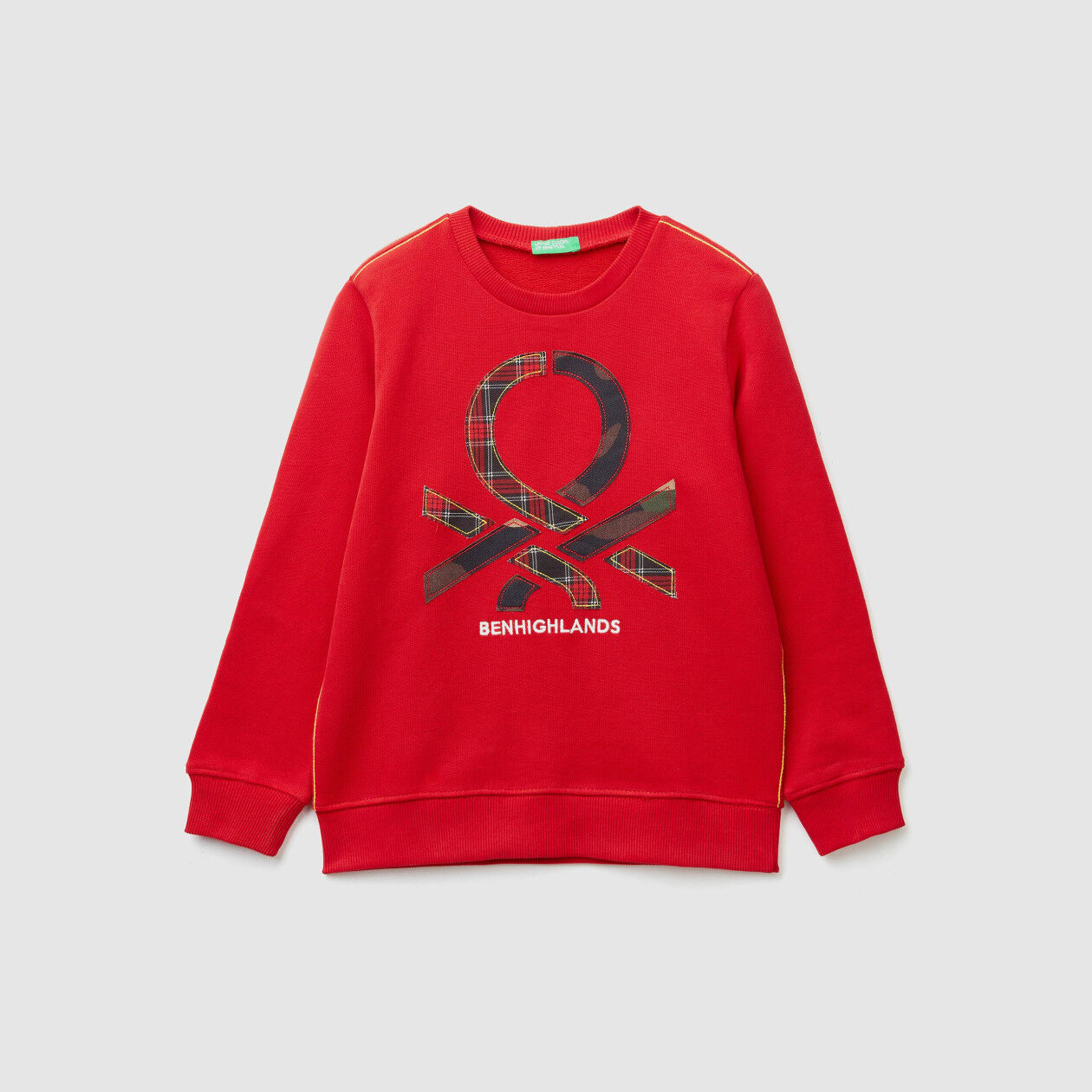 Sweatshirt with patches and embroidery