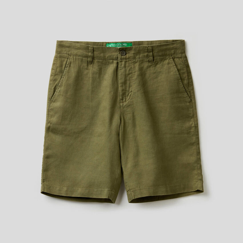 Bermudas in pure linen