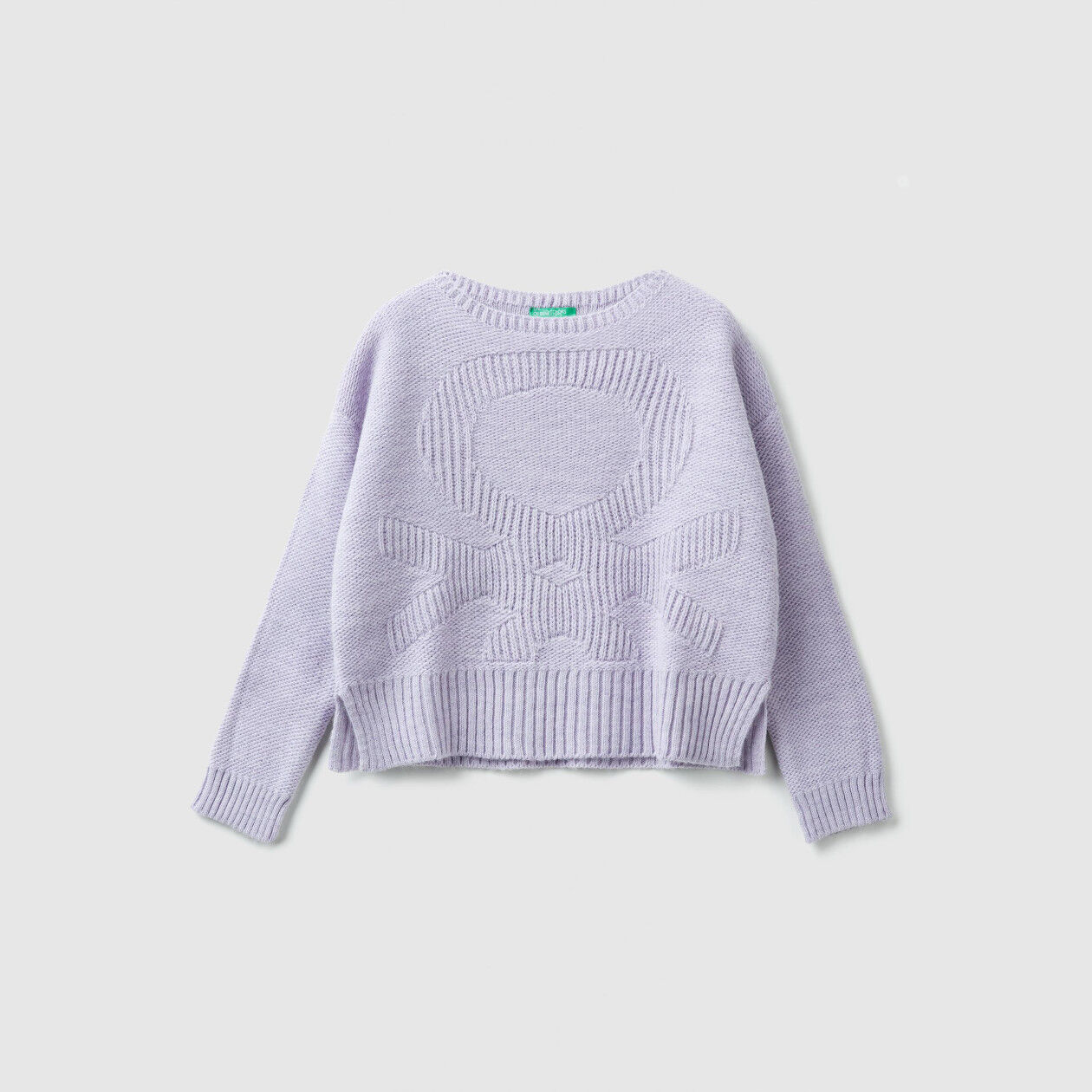 Tricot sweater with logo