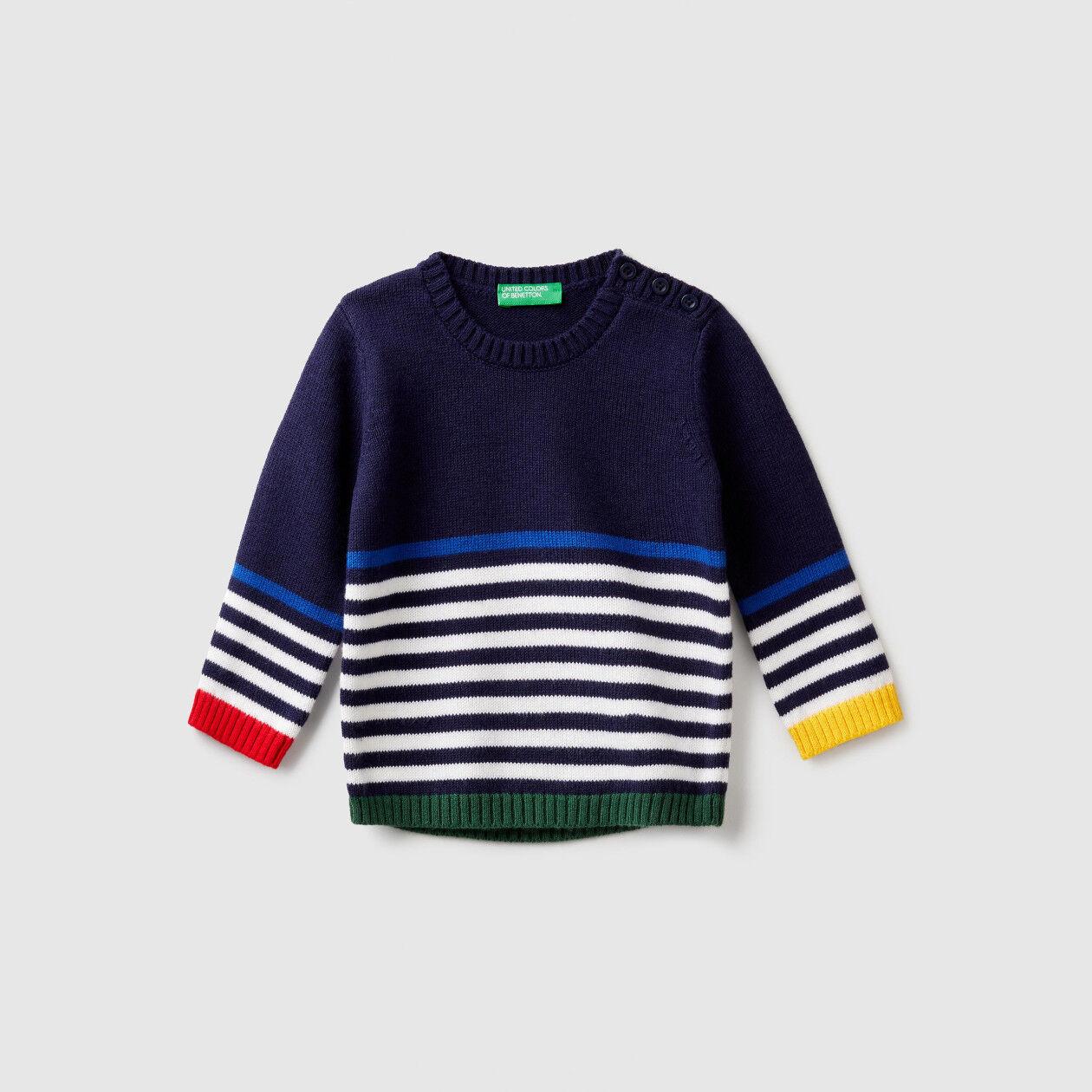 Jersey con rayas multicolores