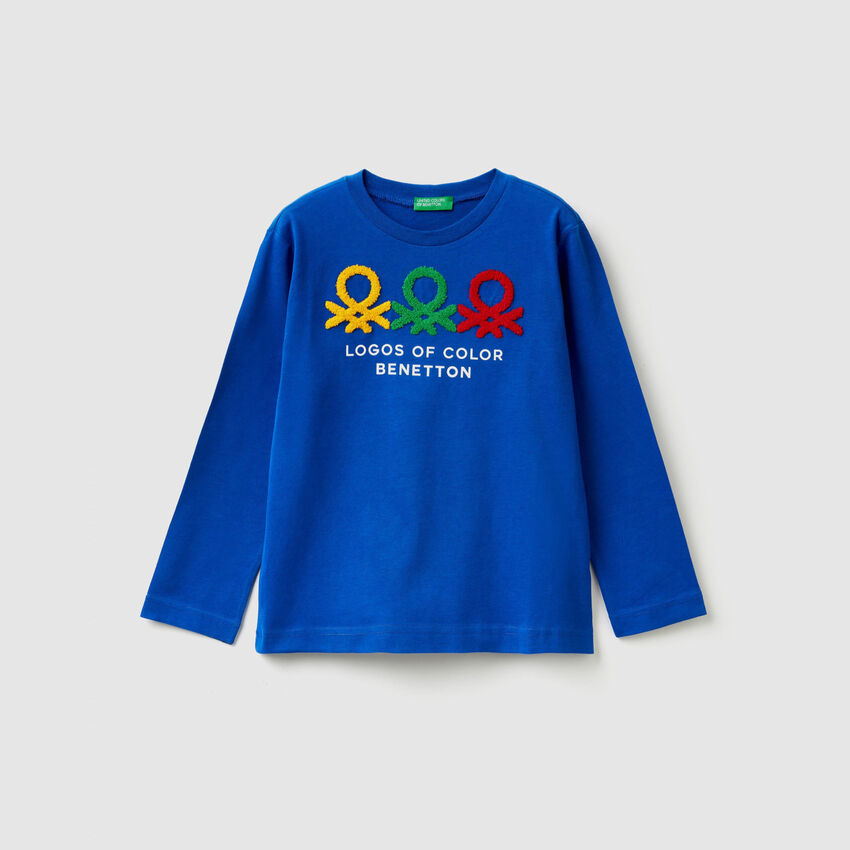 Multicolor t-shirt with logo